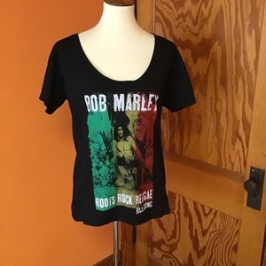 Bob Marley billabong Rasta reggae rock t shirt